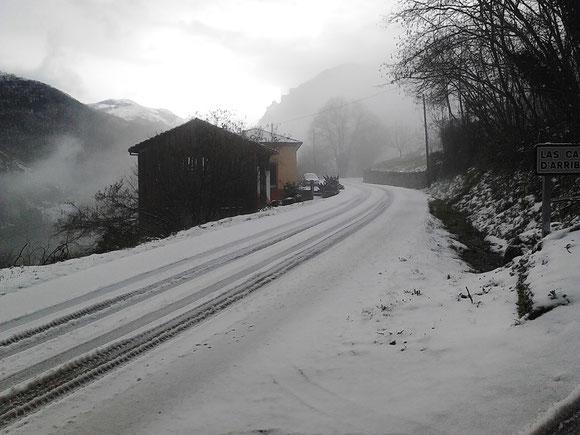 Ca´Faustino en un día de nevada