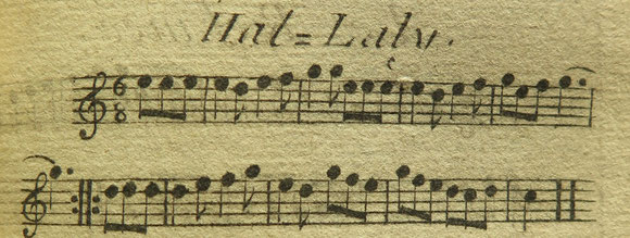 Das Halali von Marquis des Dampierre (Almanach du Chasseur 1773)