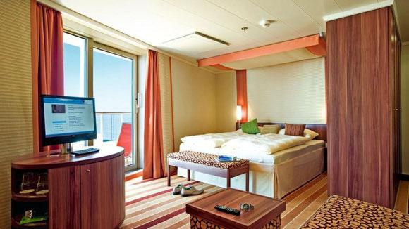 AIDAbella Suite mit privatem Sonnendeck