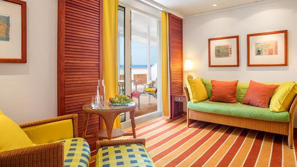 AIDAvita Premium-Suite mit privatem Sonnendeck