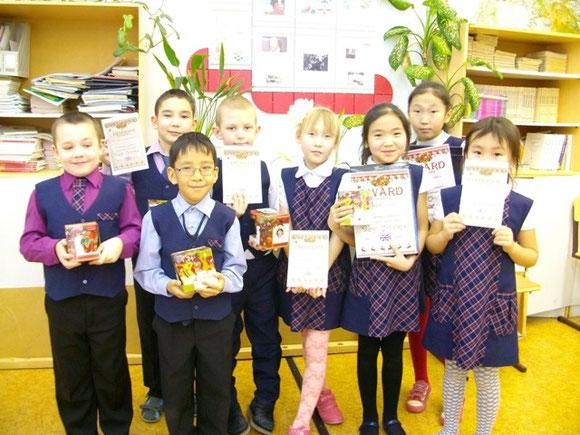 """Ученики 2 """"б"""" класса Покровской СОШ № 2 - участники проекта."""