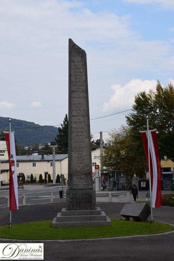Das Rainerregiment Denkmal am Vorplatz