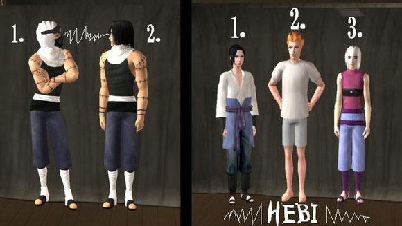 Kakuzu without cloak! 8D take it all of baby!>>>> and Sasuke`s squad Hebi<<<<