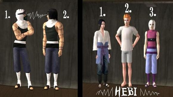Kakuzu without cloak! 8D take it all of baby!>>>> and Sasuke`s squad Hebi<<<<
