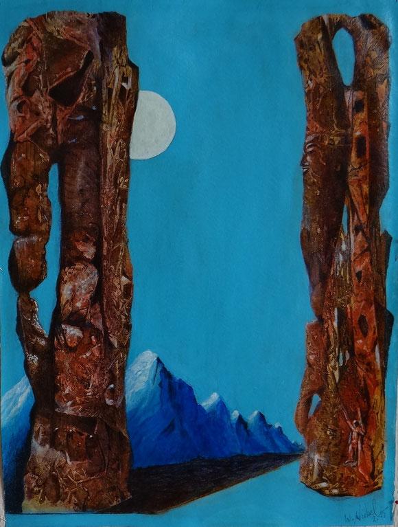 Marscroniken     36 x 48    2. 2015  Acryl