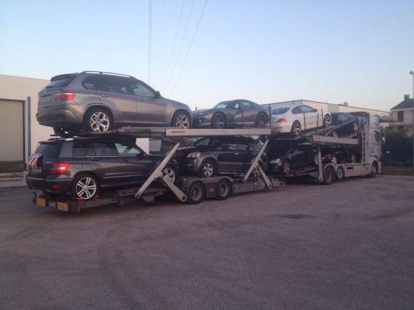 X5, GLK, BMW M, SUV, Einzeltransporte, Autotransport Italien. Keine Verwechslung: Wir sind nicht Firma Auto Messner