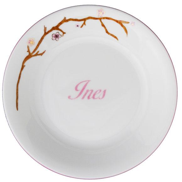 Hanami Fleurs de cerisier - Assiette porcelaine personnalisable