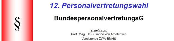 Ausführliche Präsentation der Vorsitzenden des Zentralwahlausschusses, Frau Dr. Susanne Amelunxen, im Rahmen der PV-Schulung in Vorarlberg