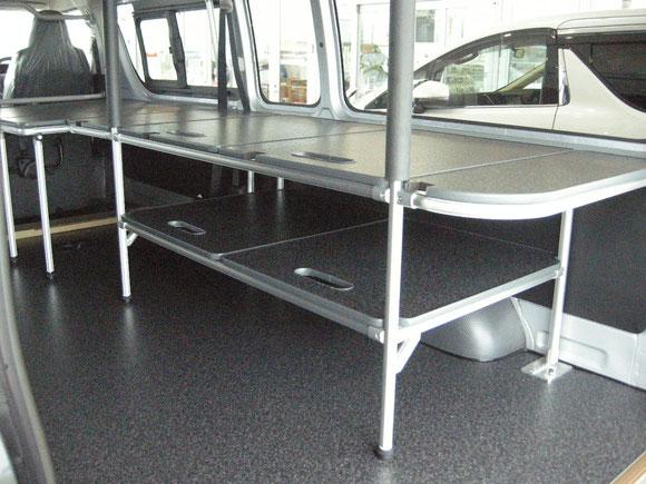ハイエース キャラバン トランポ 棚 職人棚 床貼りキット 仕事 キャリア