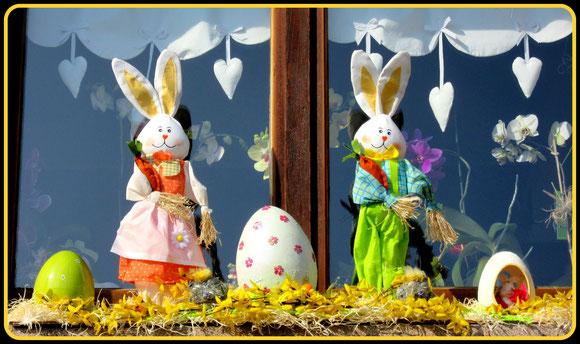 Décos de Pâques pour fenêtre