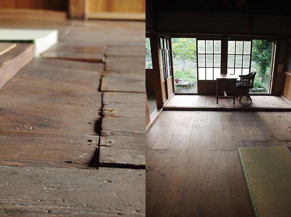 机と椅子はやはり板張りの床に馴染みます。段差がちょっと気になりますが…