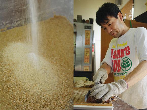 自家製粉することにより、小麦のポテンシャルをいっそう引き出します