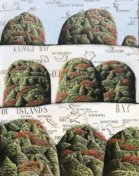 'Coromandel, Kawau and The Bay of Islands', 80 x 100 cm, Oil on Canvas, 2018