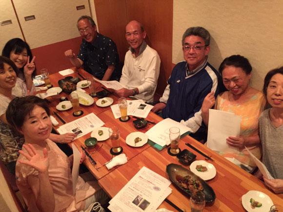 主幹事会で全体会で提案する内容を相談しました(5月23日茨木市内にて)