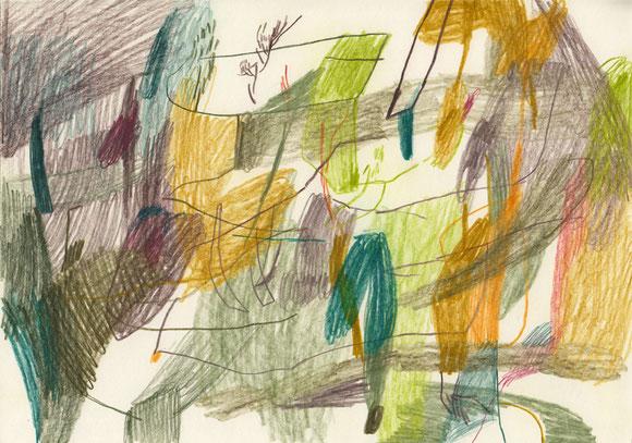 Grüner Lorenzo . 2016 . Farbstift auf Papier . 21 x 29 cm