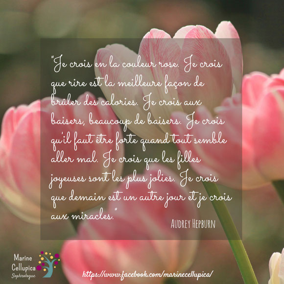 """""""I believe in pink"""" - Marine Cellupica sophrologue & naturopathe 84"""
