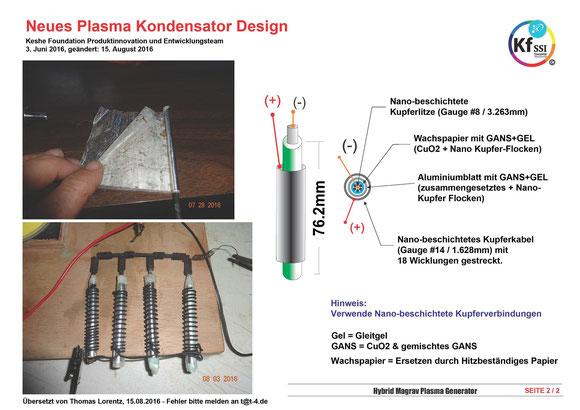 Hybrid Magrav Plasma Generator - Neue Plasmakondensator - Blueprint in Deutsch (Quelle Thomas Lorentz Facebook)