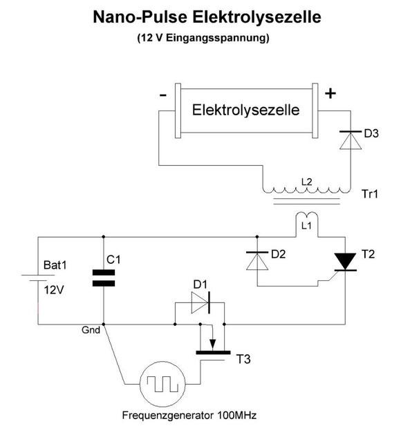 Nanopuls-Elektrolyse Schaltung
