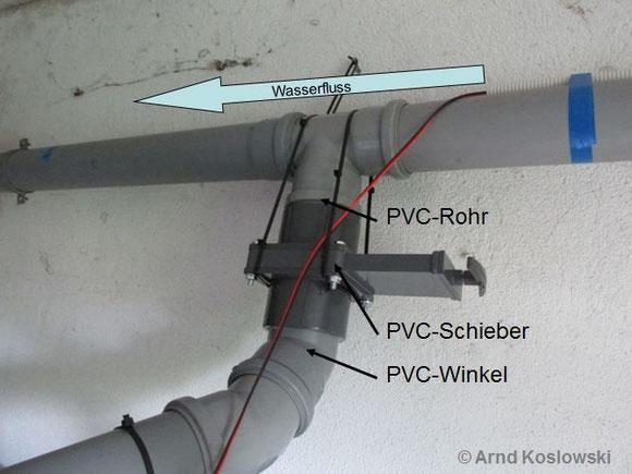 PVC-Schieber Wandanbringung