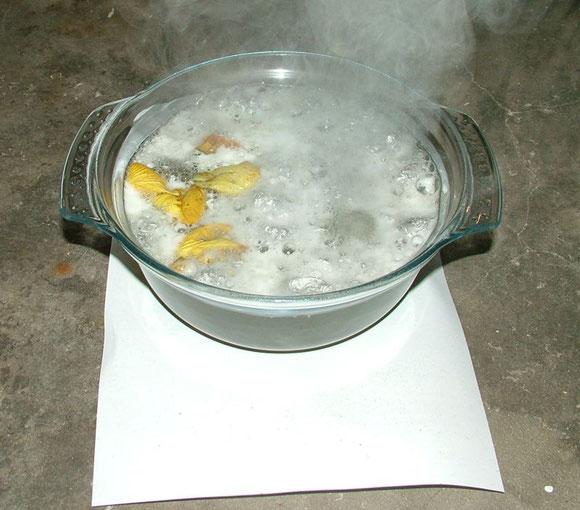 Saucenherstellung 3 - Zutaten in Schüssel übergossen (Nanocoating Part3)