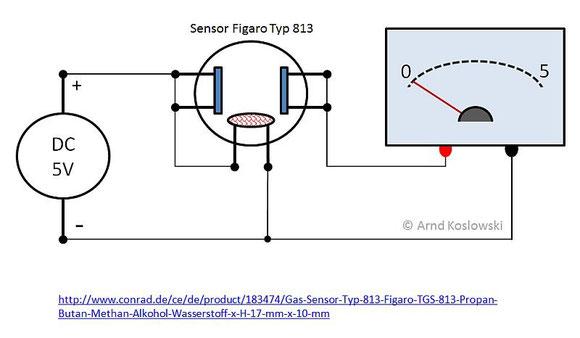 H-Messaufbau mit Sensor 813