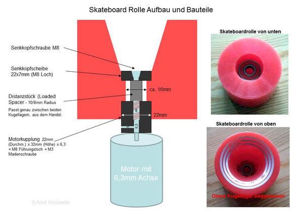 Skateboard Rolle Details