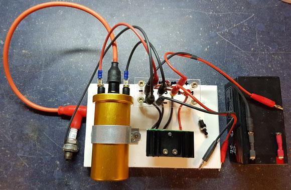 Transistorzuendung_Versuchsaufbau