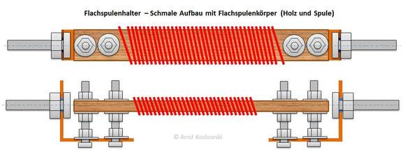 Flachspulenhalter - Schmal - Gesamtaufbau