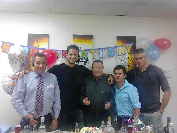 Foto de archivo de 2013. Suite 412. A la izquierda Jorge Ojeda. Los otros 4 ya no trabajan en Ojeda Corp.