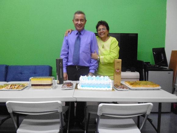 Dinorah Ortega, Presidenta de Dortega Corp. Con Jorge Ojeda festejando su 55 cumpleaños