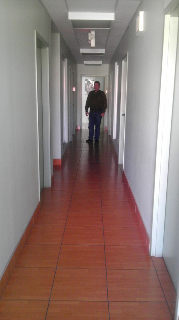 Ojeda en el pasillo interior