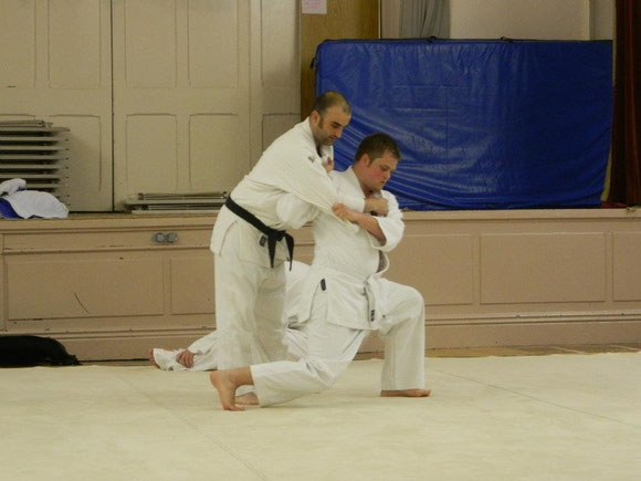 Senior Judo Training.