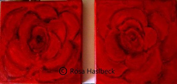 Acrylbild, acryl, blumen, blumenbilder, rosen, rot, ,bilder, bild, malen, malerei, kunst, deko, dekoration, wandbild, abstrakt