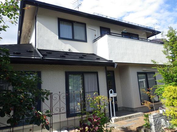 岩手県胆沢郡金ヶ崎町、屋根・外壁塗装完了