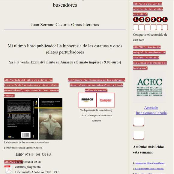 Análisis SEO de una web con Web Developer: imágenes sin atributo Alt.