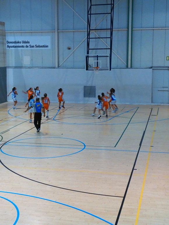 Las cadetes jugaron un gran partido. (Foto: Arrate Sacristán)