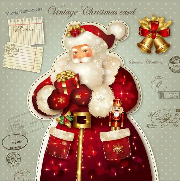 サンタクロースをデザインしたグリーティングカード Santa Claus greeting cards