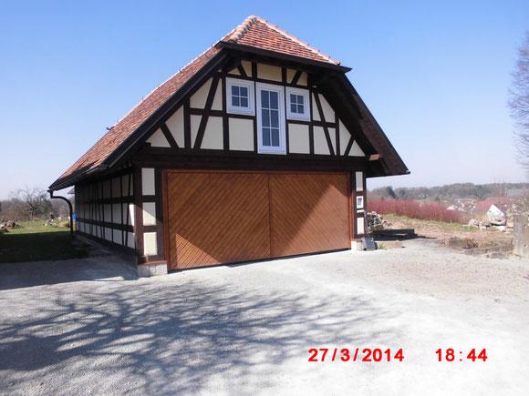 Fachwerk Garage Aussenputz, Lachweiler