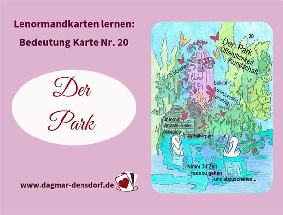 Ankündigung Lernvideo Lenormandkarte der Park