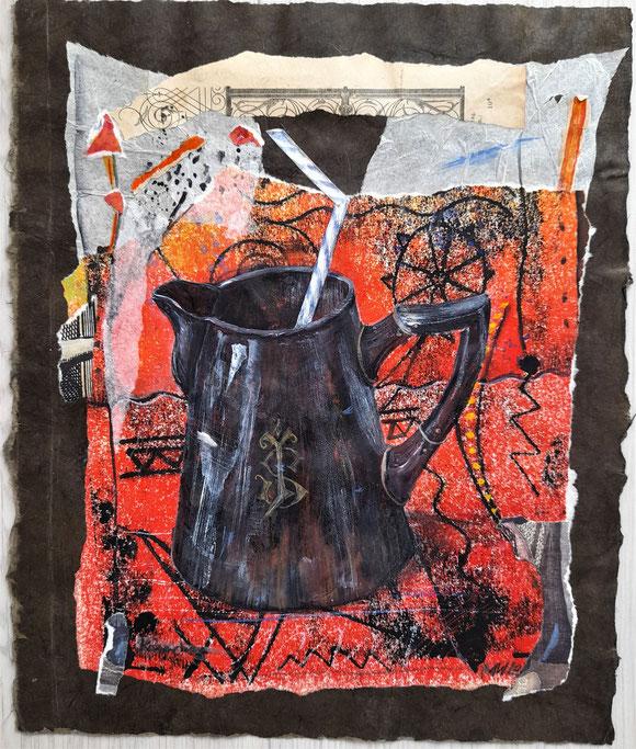 """"""" Kännchen """" Collage/ Monotypie"""
