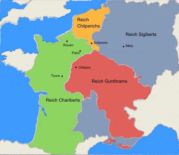 Karte Reichsteilung 561