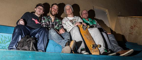von links.: Benne, Melle, Günny und ich