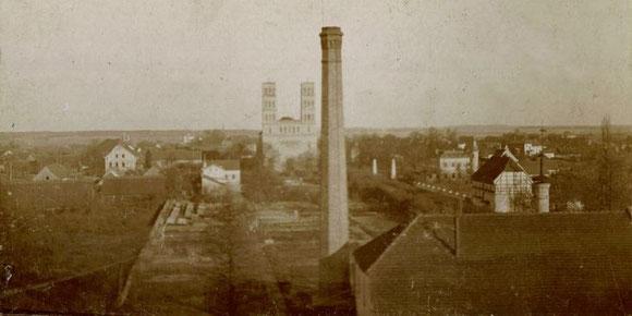 Blick vom Turmgebäude, 1897.