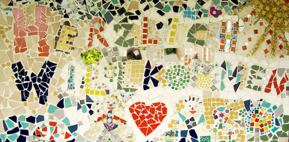 Mosaik am Eingang