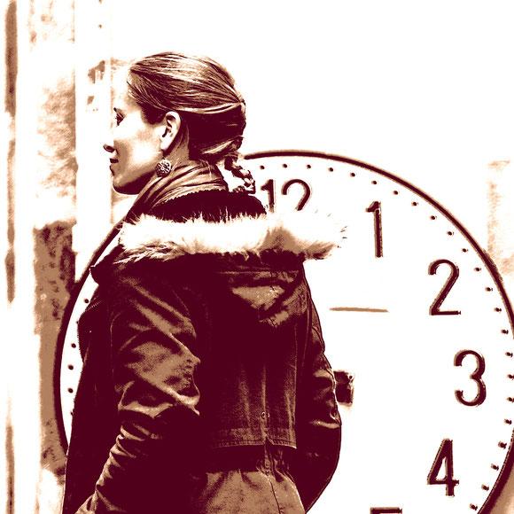 Die Zeit rennt, Canvas 60 x 60 cm