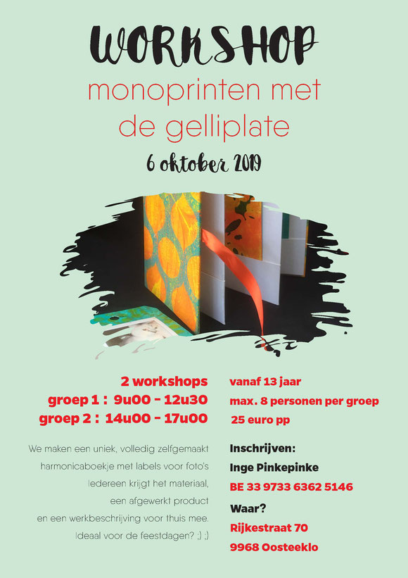 #workshop #creativeworkshop #photobook #Belgium #Oosteeklo #etsyshop #pinkepinke