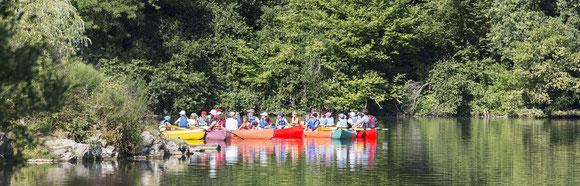 Canoë kayak groupes Base de Loisirs Mervent