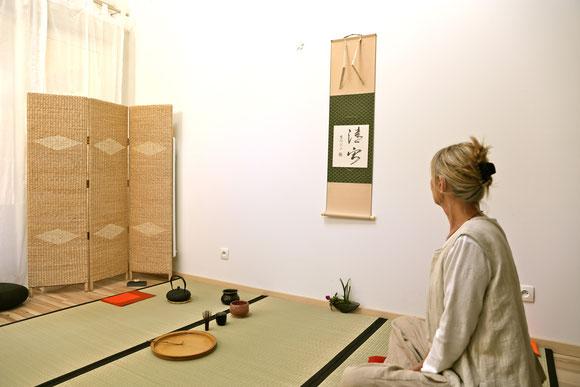 Salle de pratique du Chanoyu à Beaumont les Valence