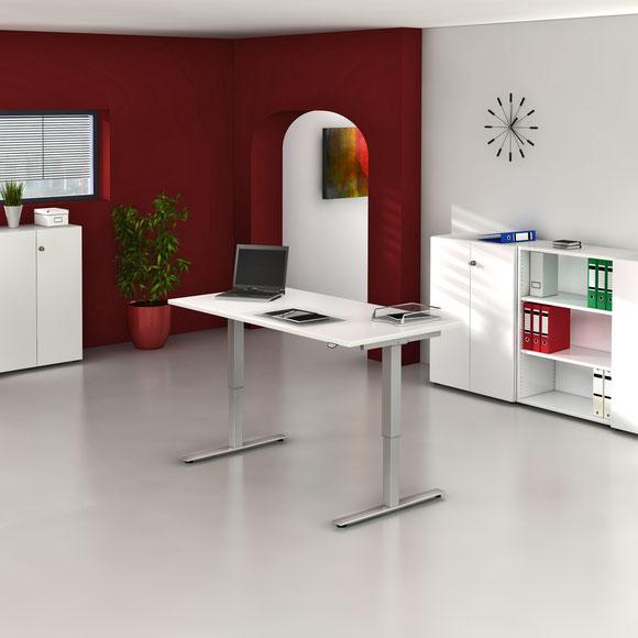 Elektrisch höhenverstellbar von 735-1190 mm, Maße160x80, Tisch, höhenverstellbar, Varianten,