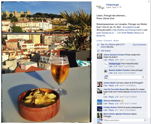 Visitportugal Facebook